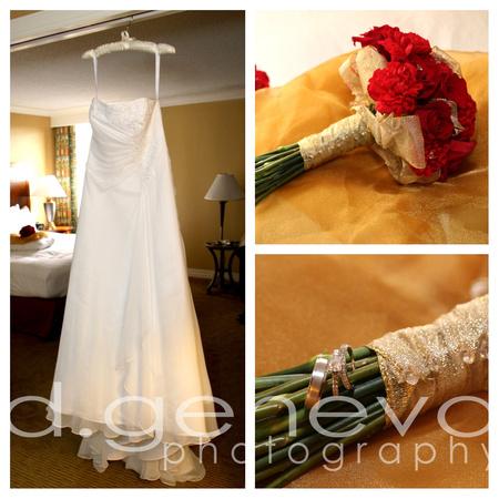 Dress&bouquet